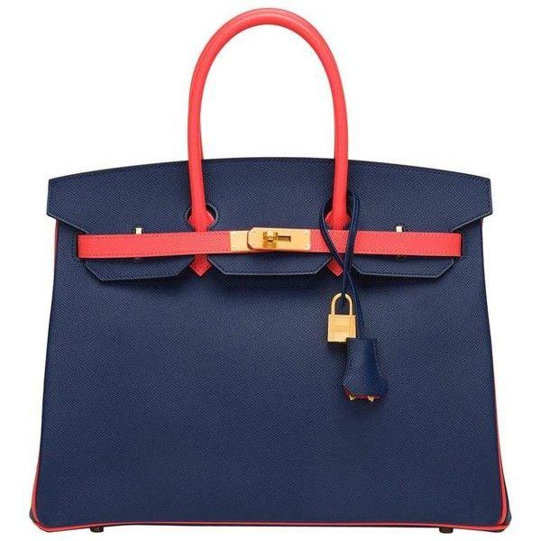 0d11cf4ecf64 Hermes HSS Bi-color Blue Sapphire And Rose Jaipur Epsom Birkin 35cm  ( 28