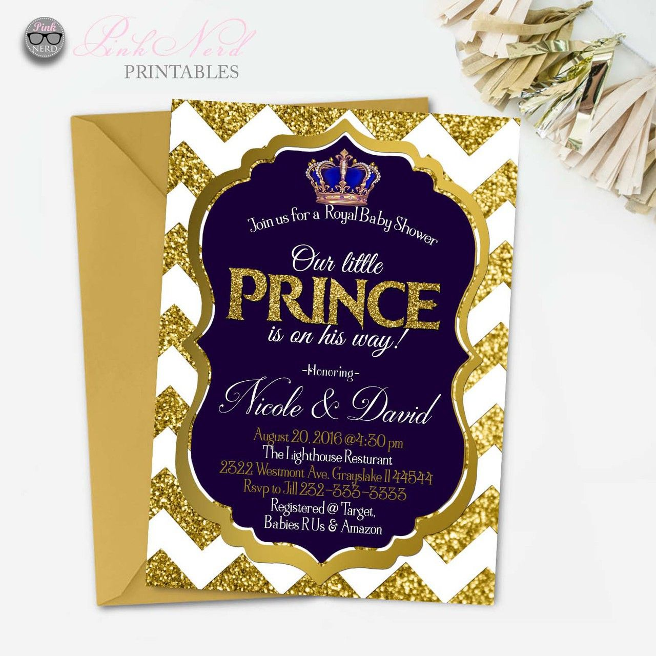 Invitations & Announcements Invitations Prince Baby Shower royal ...