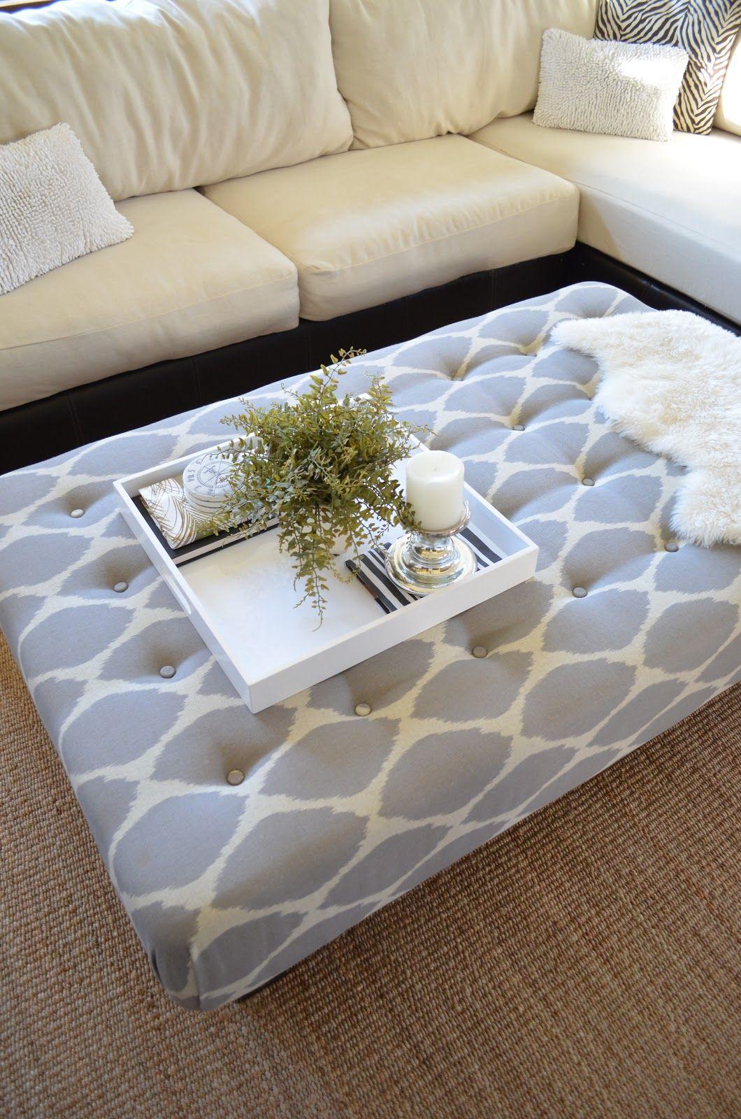 Turn A Coffee Table Into An Ottoman Diy Couch Diy