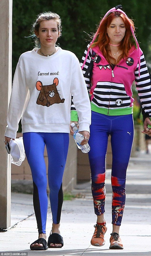 Bella Thorne And Sister Dani Step Out In Colorful Workout Gear In La