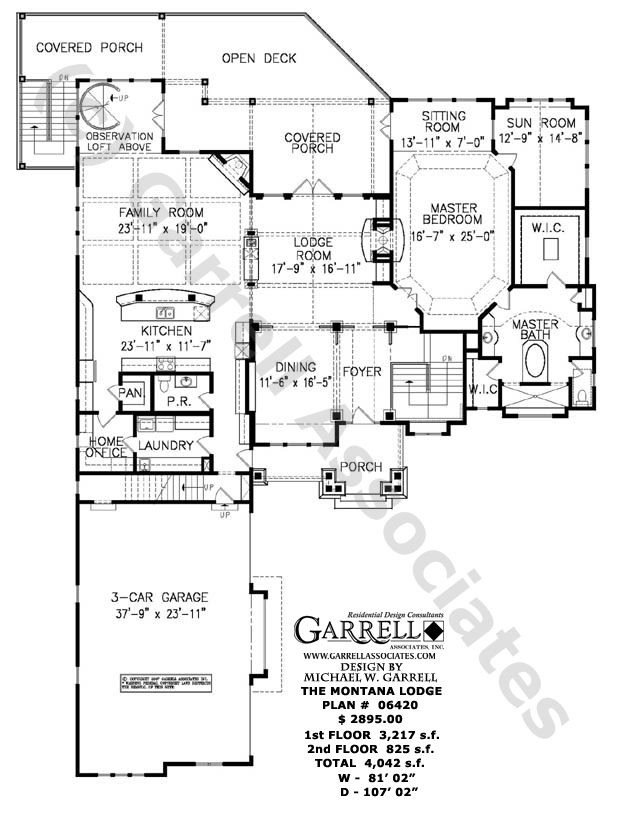 Rustic Mountain Floor Plans Floor Plans For Ranch House