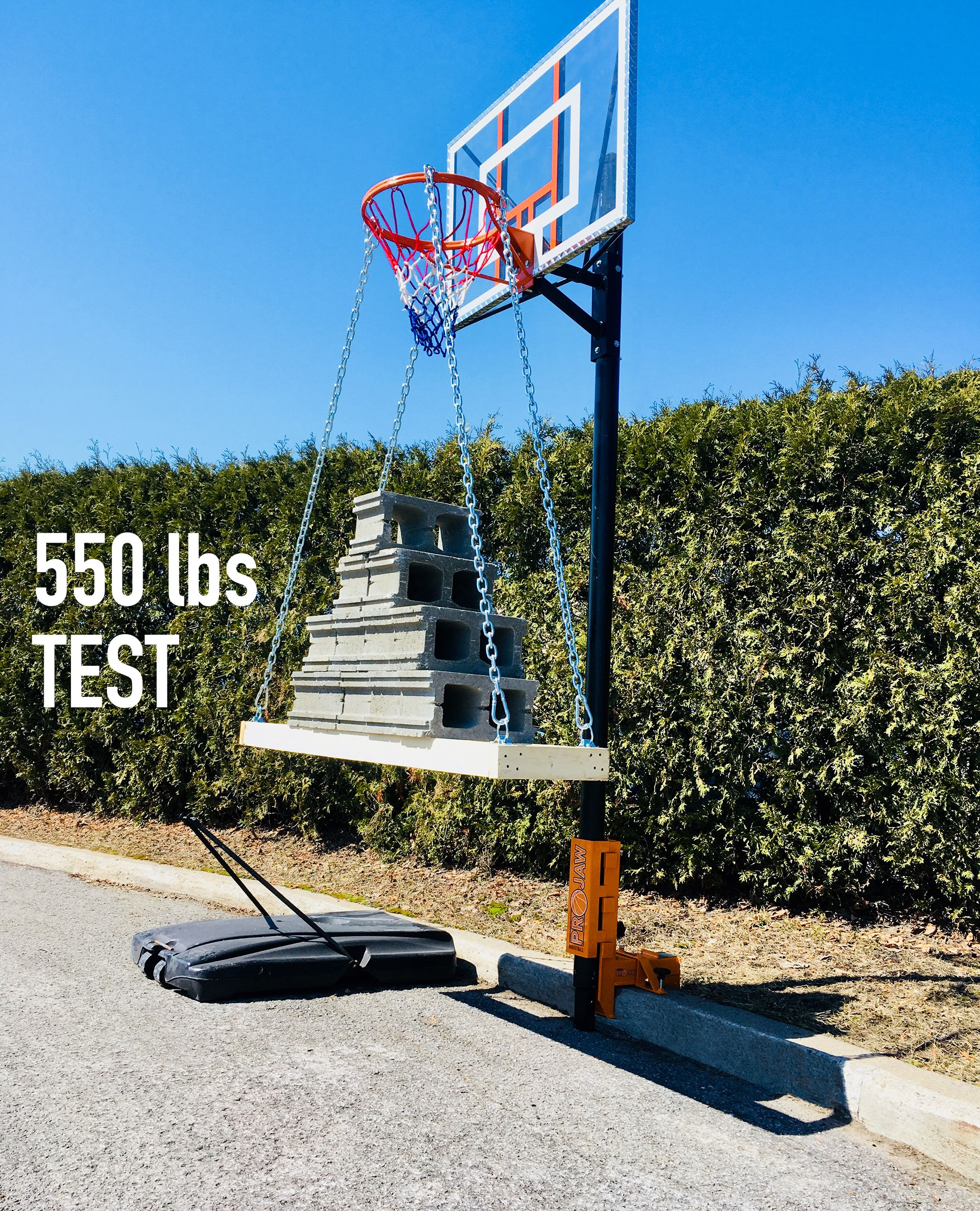 Basketball Projaw A Sturdy Steel Base For Portable Basketball Hoops Portable Basketball Hoop Diy Basketball Diy Basketball Hoop