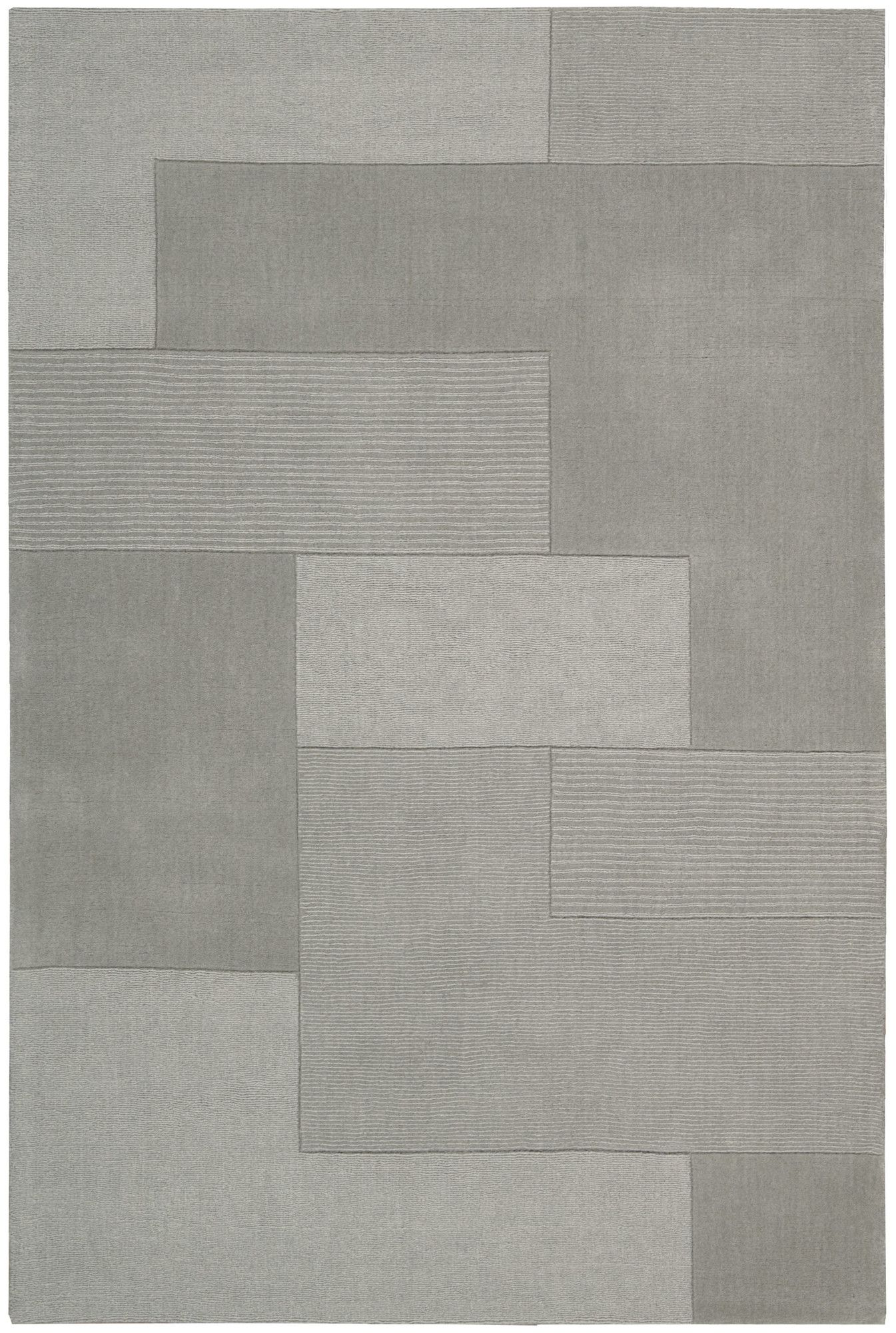 Bowery Hand Knotted Wool Grid Wisp Area Rug Art Rugz Tex