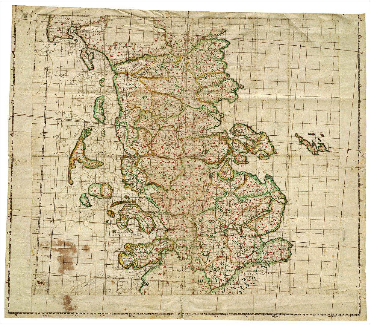 Kort Over Schleswig 1650 Gamle Kort Kort Og Danmark