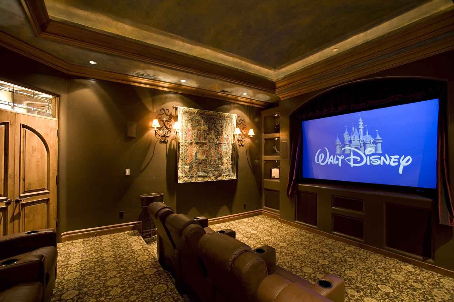 Enjoy More Of Watching Your Favorite Disney Movie With Your Kids In A Nice Home  Theater Set Up Like This One.