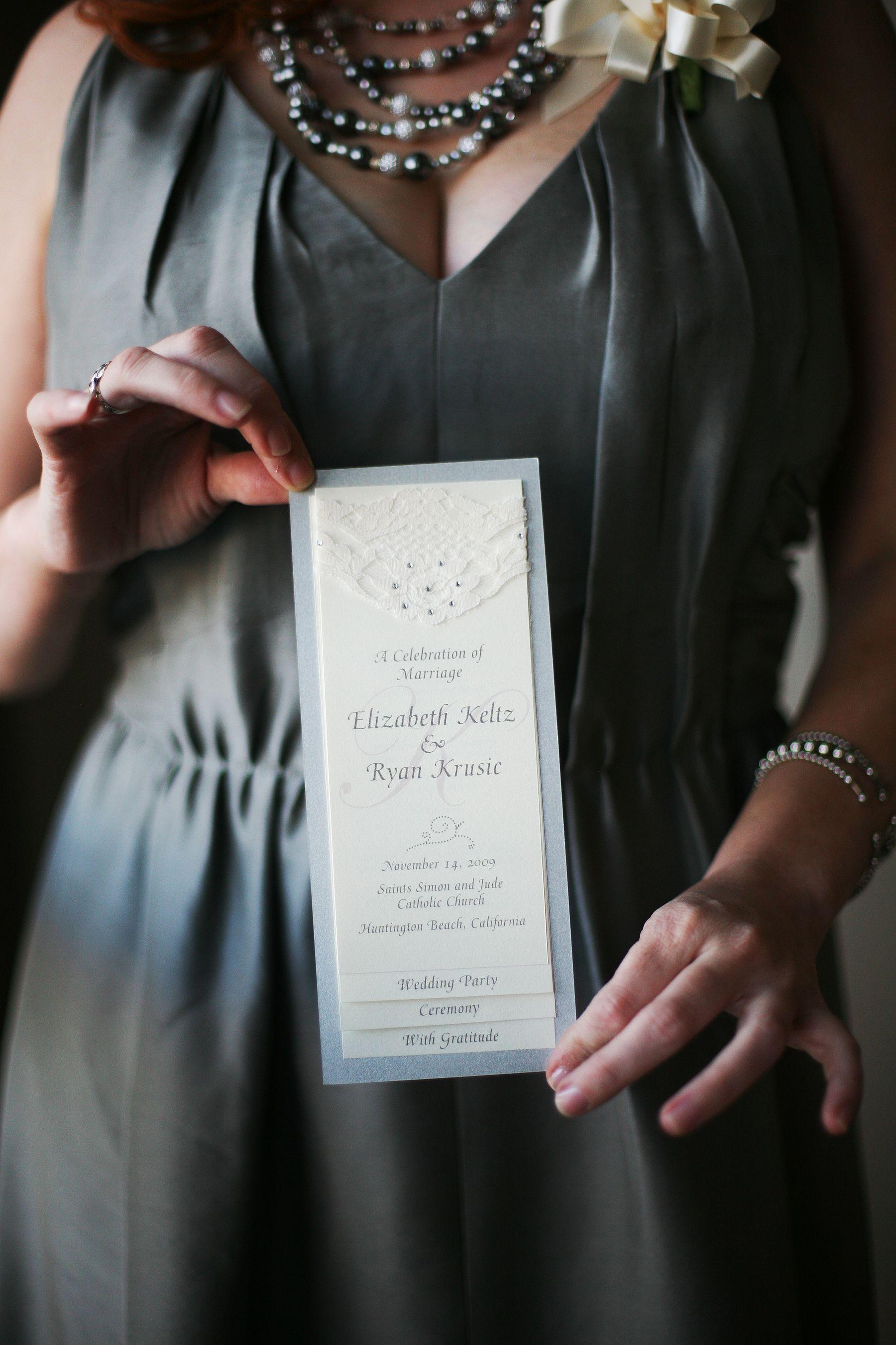 lace programs   Diy wedding programs, Wedding programs ...