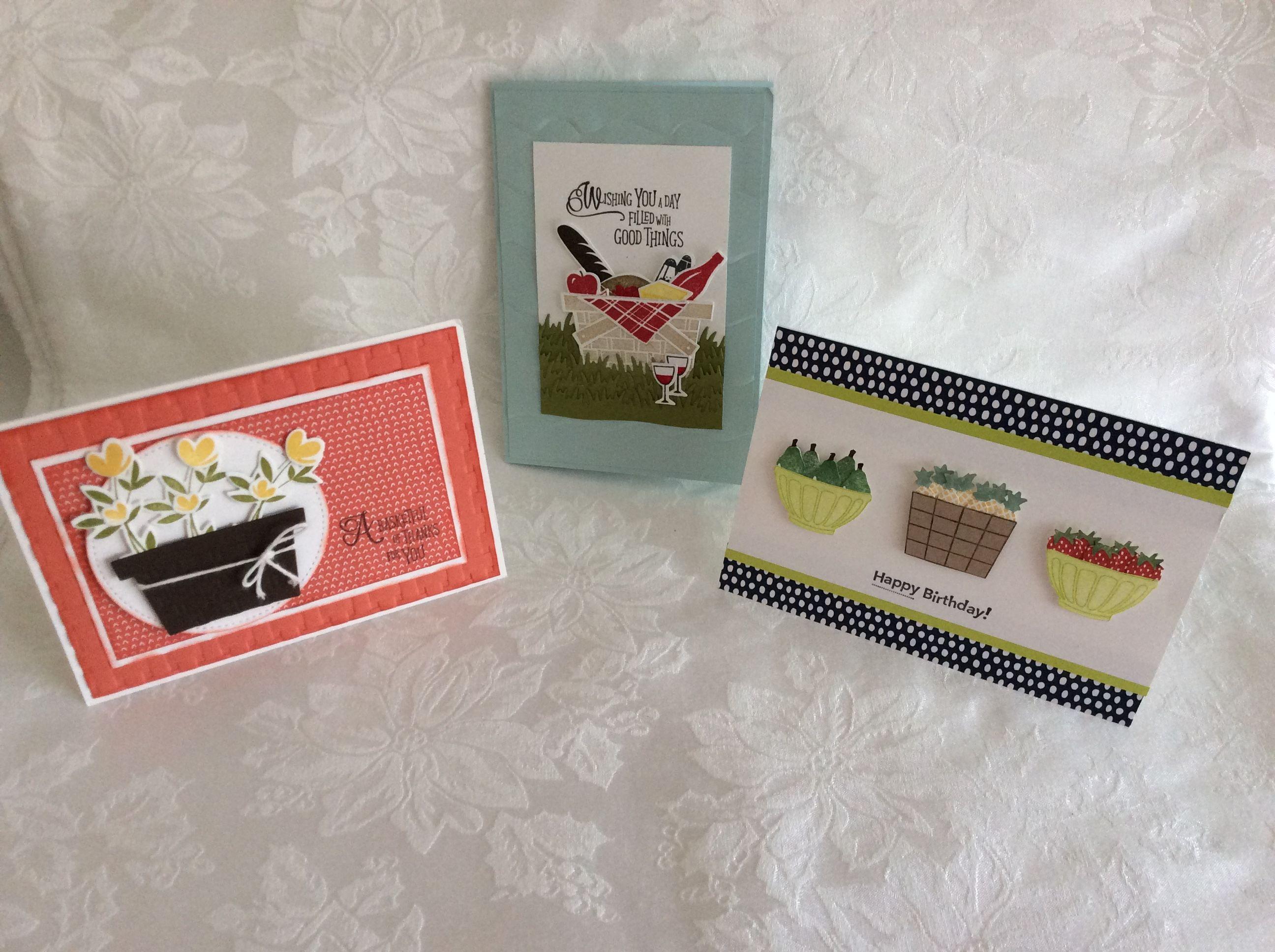 Cards Made In Tinas Stampin Up Class