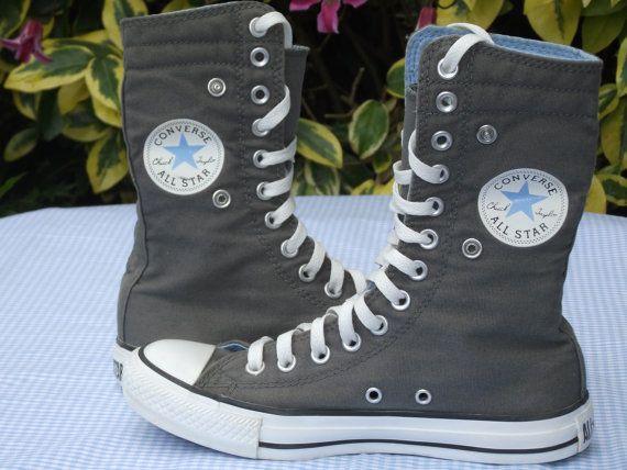 Blue and Khaki Super Hi-Top Converse