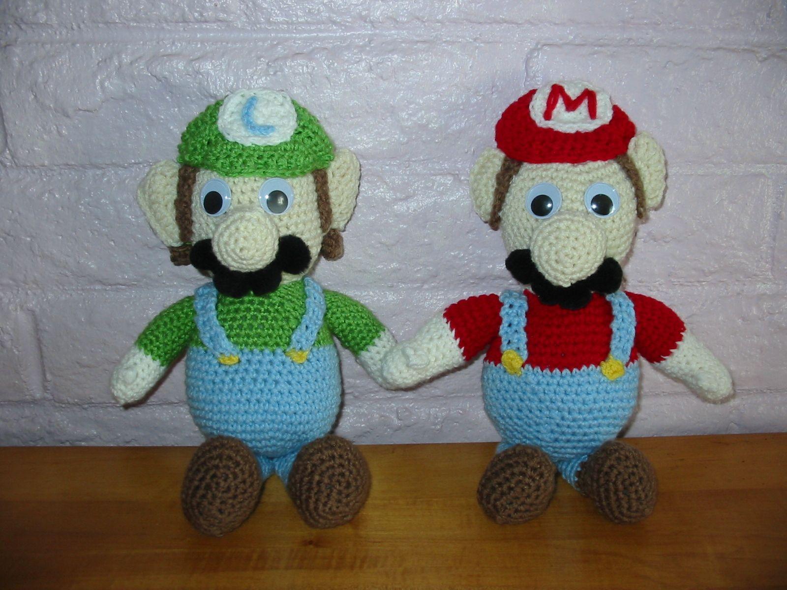 Luigi & Mario dolls I crocheted | Crochet Corner | Pinterest