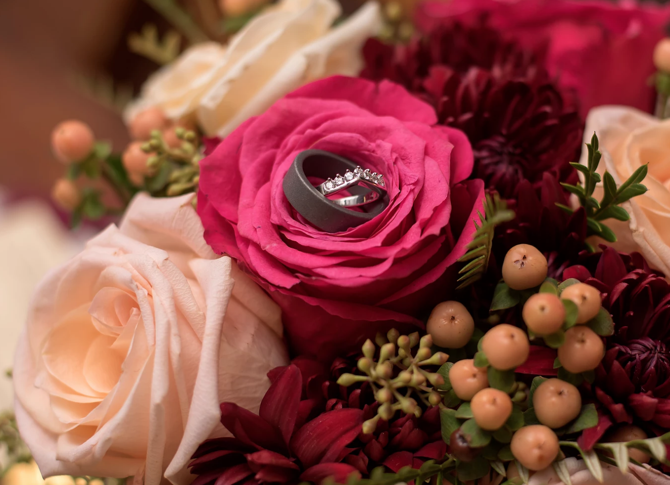 Stunning New Years Eve ring shot by Amanda D Photography