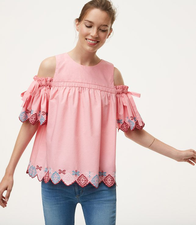 3ab5e932d4c1a8 Primary Image of Fiesta Cold Shoulder Top