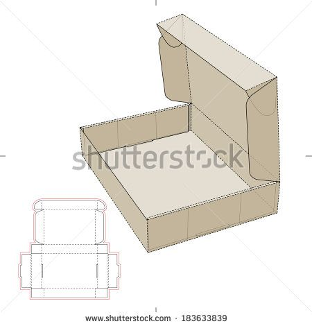 Cardboard Flat Box With Die Cut Pattern Packaging Designs Box