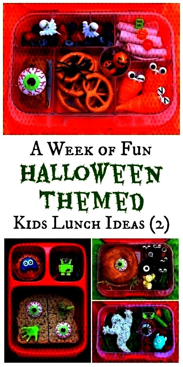 - Woche 2  - Halloween - Fun Halloween Bento Lunches - Woche 2  - Halloween -Fun Halloween Bento