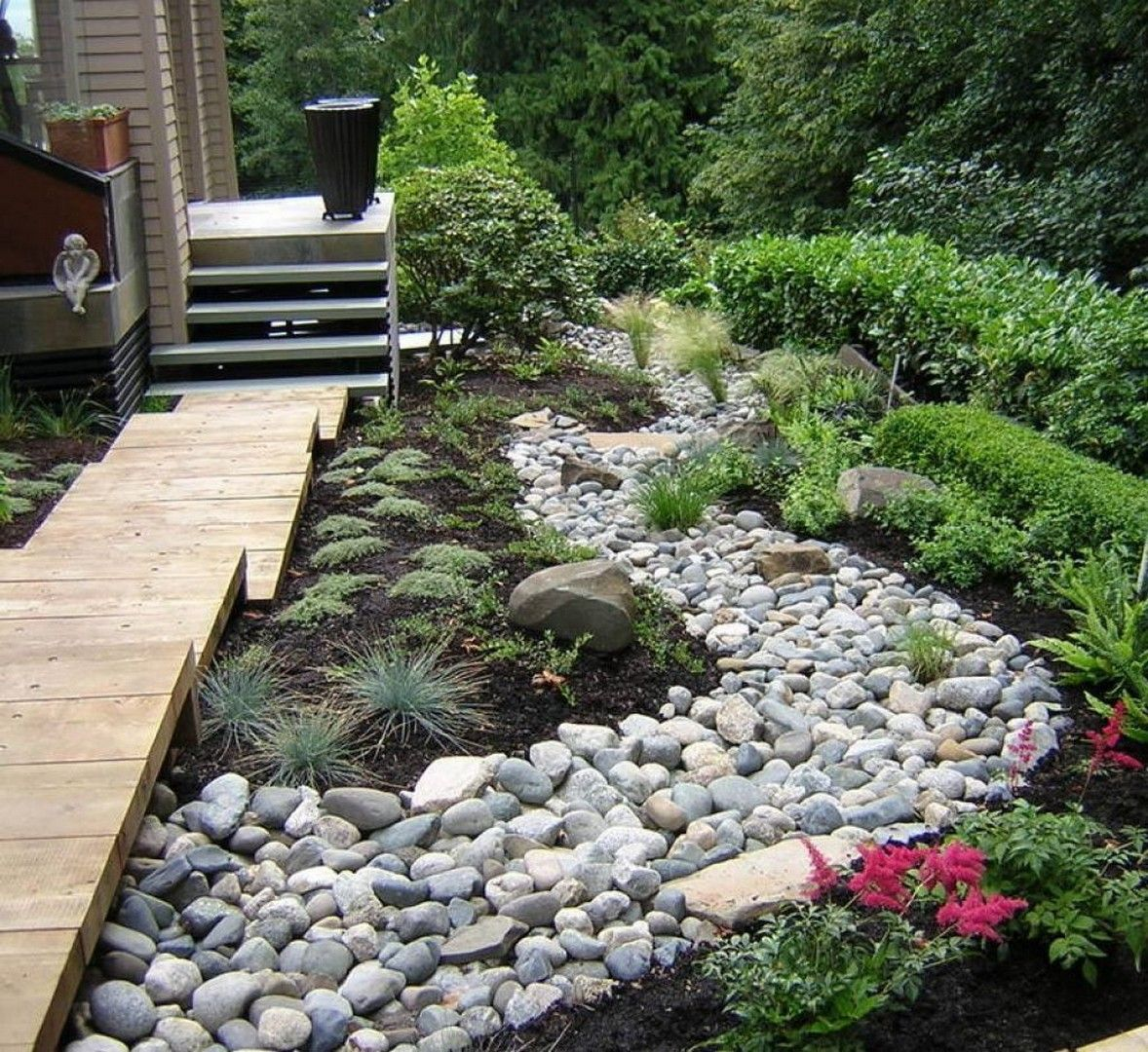 33 Landscaping Garden Ideas With River Rock