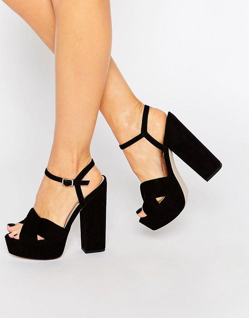 Image 1 of ASOS HOT SPRINGS Platform Sandals