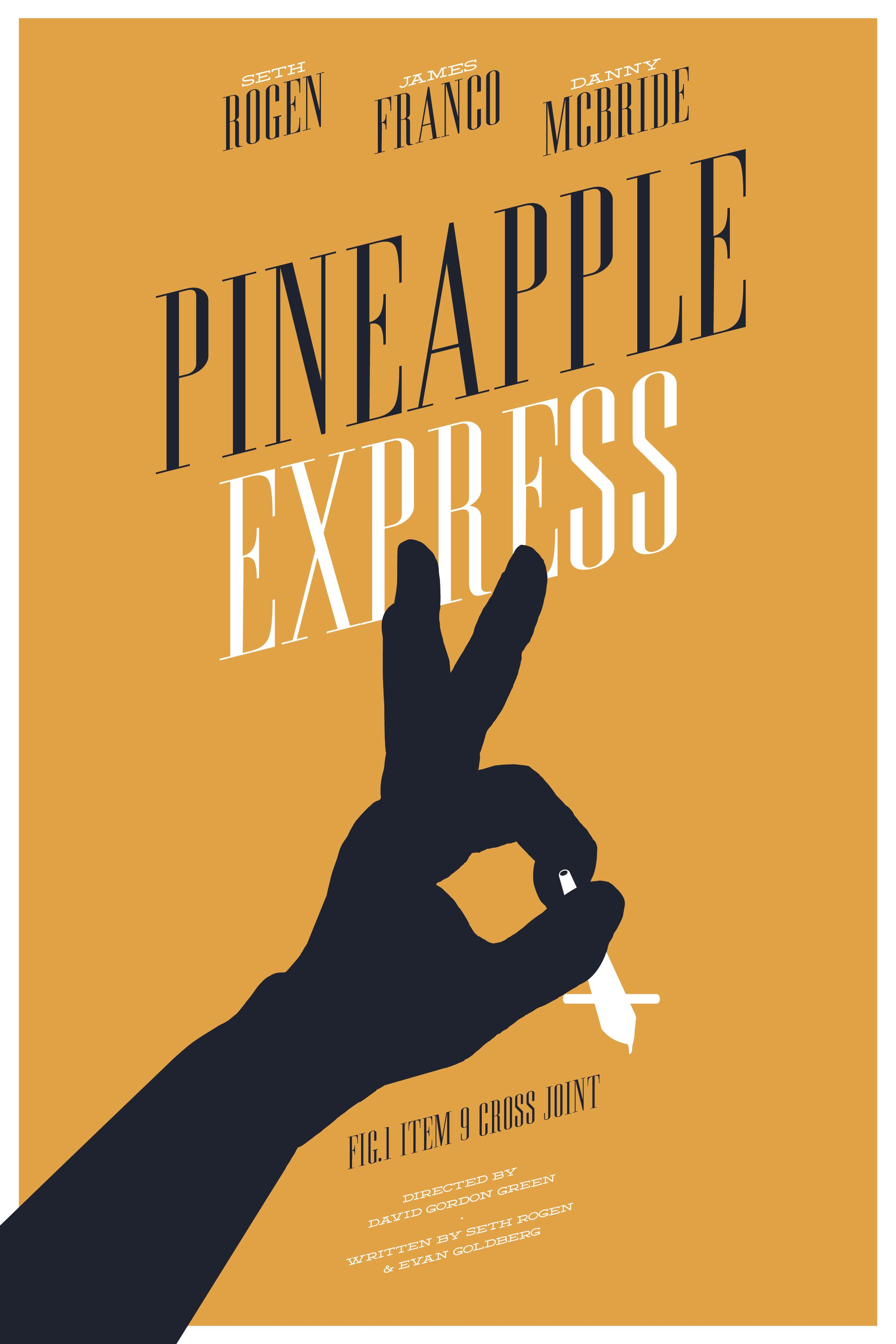 pineapple express 2008 minimal movie poster by nicolas