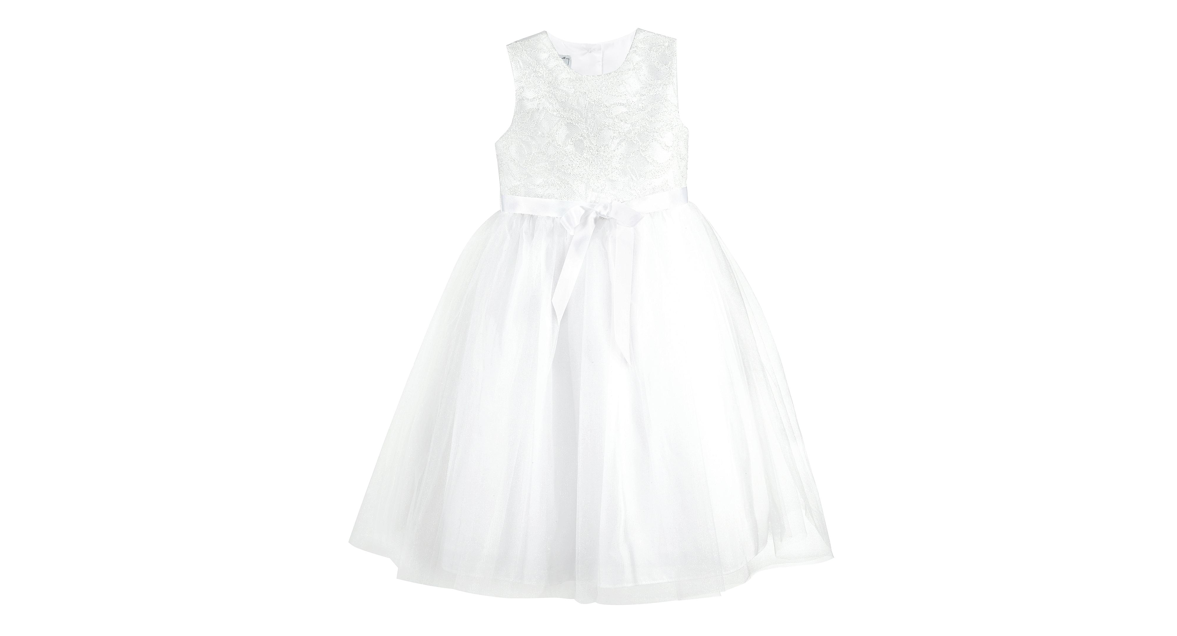 Marmellata Girls Glitter Lace Ballerina Flower Girl Dress