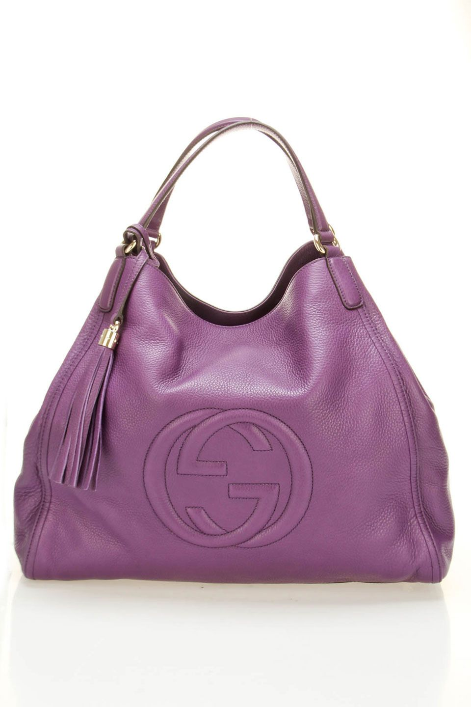 c7c2b97e7 Gucci Large Soho Cellarius Tote In Purple - Beyond the Rack | Color ...