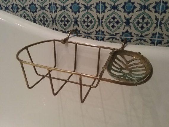 Old SOAP sponge holder bines copper sink or bath bathroom