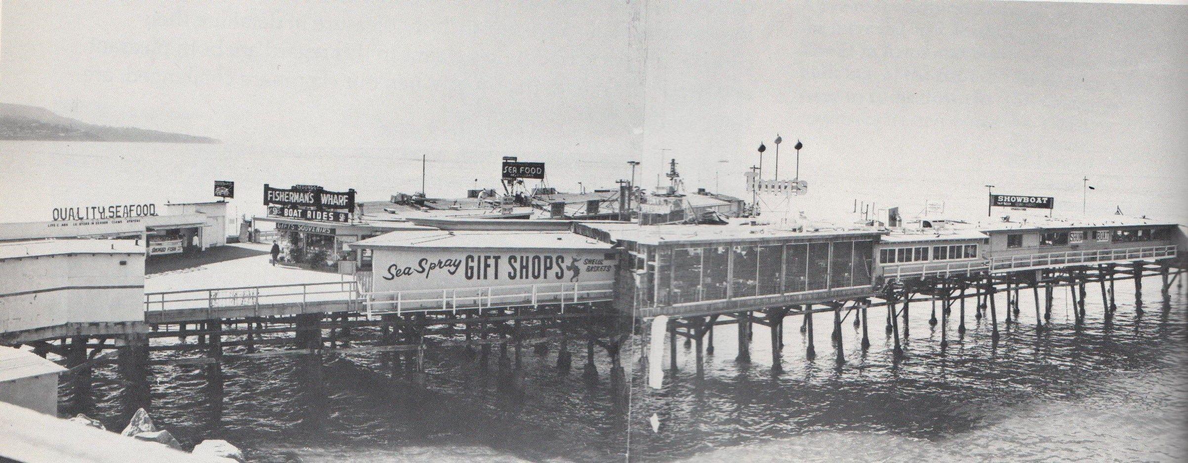 1960 Redondo Beach Pier  REDONDO BEACH CALIFORNIA OLD