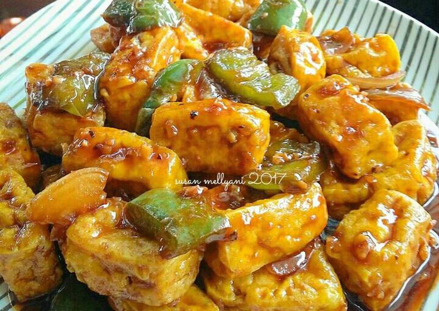 Resep Tahu Lada Hitam Oleh Susan Mellyani Resep Resep Tahu Resep Vegetarian Resep Makanan Cina