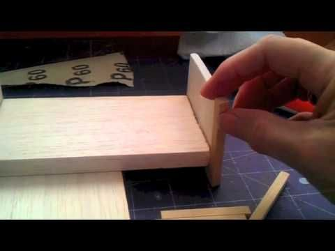 How to make Bed for your  scale Dolls house -