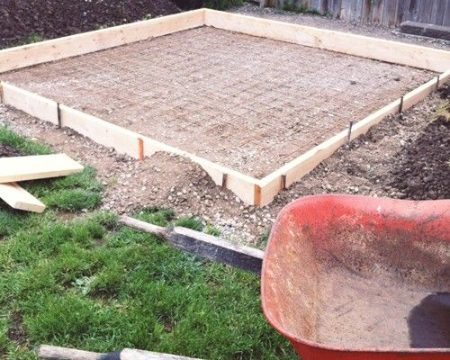 Hdblogsquad How To Build A Covered Patio Brittany Stager Backyard Concrete Patio Concrete Pad
