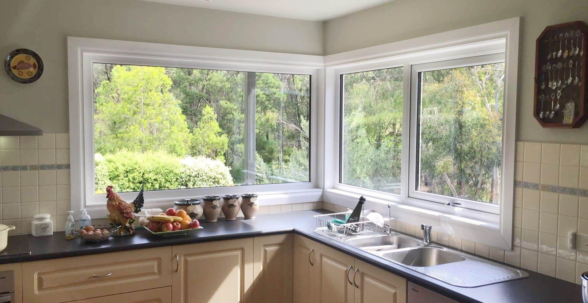 Corner window kitchen sink  image result for corner windows  corner window in   pinterest