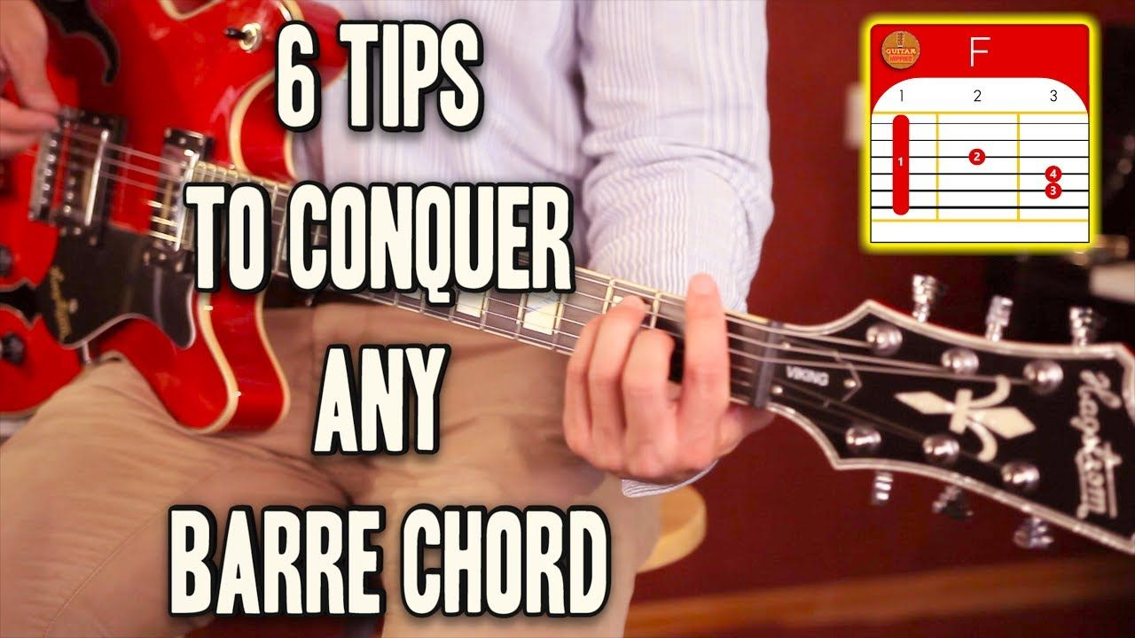 6 tips how to play barre chords easily 4k youtube