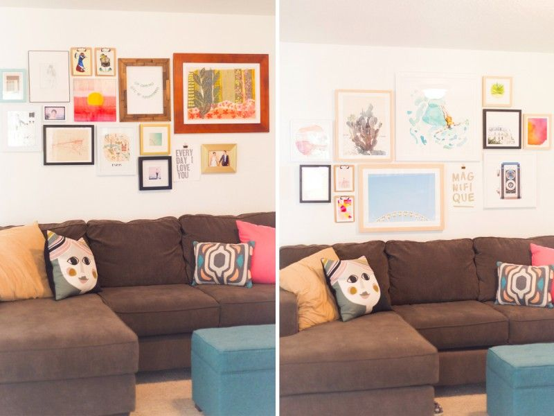 How To Create a Gallery Wall @LovelyIndeed