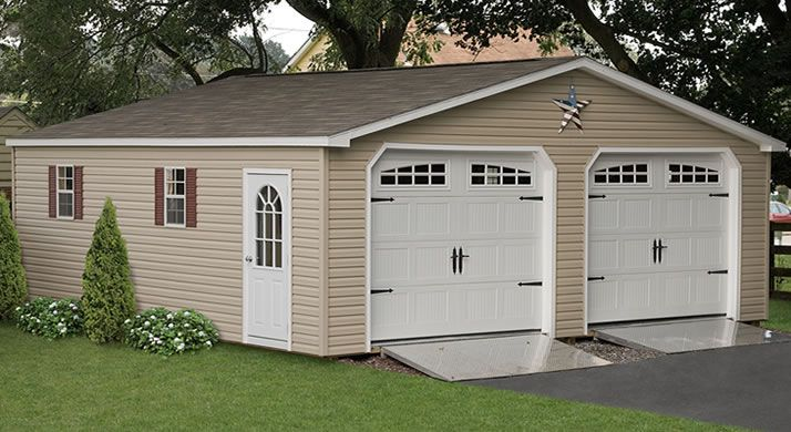 Custom Two Car Garages 2 Car Detached Sheds For Sale Building A Garage Outdoor Buildings Garage Door Opener