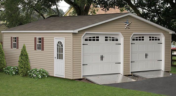 Custom Two Car Garages 2 Car Detached Sheds For Sale Building A Garage Outdoor Buildings Garage Door Opener