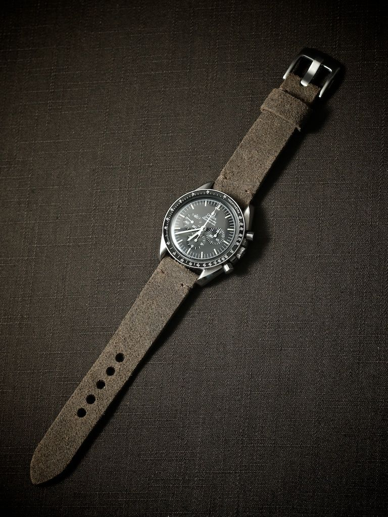 Quot Holland Quot Grey Brown Handmade Leather Tapered Watch Strap