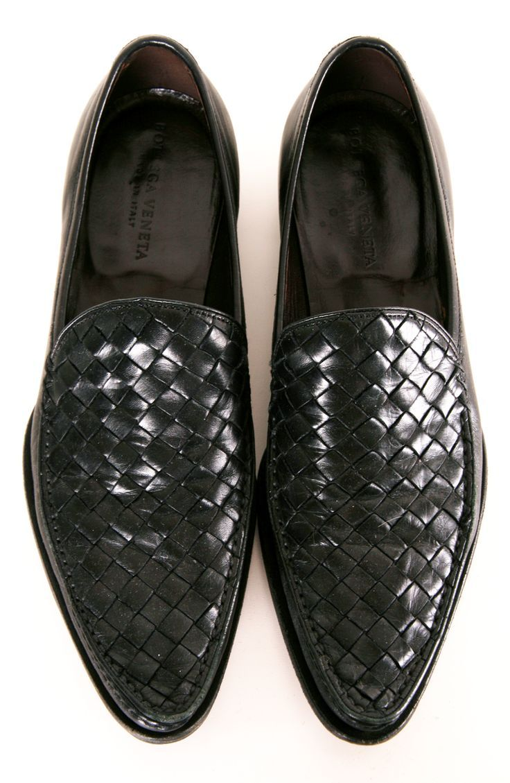 Black Leather Bottega Veneta loafers fdf6e646bf34