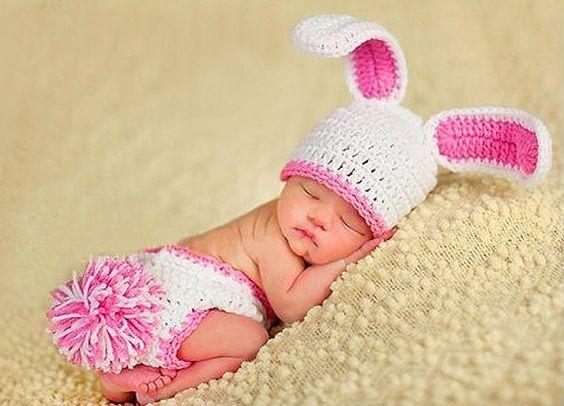 Baby Häkelkostüm Strick Kostüm Fotoshooting Baby Fotos Ostern Bunny