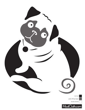 outlines of pugs - Google Search | Pugs/Puggles&other Animals ...