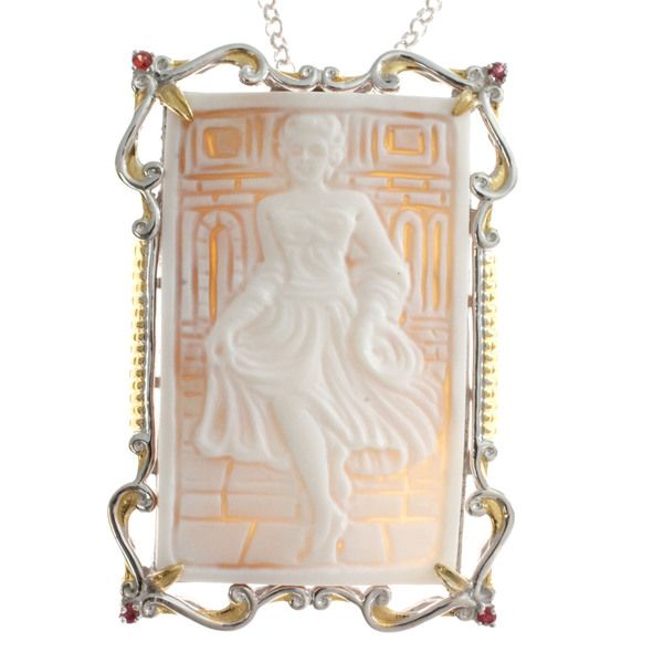 Michael Valitutti Carved Cameo Necklace - Overstock™ Shopping - Top Rated Michael Valitutti Designer Necklaces
