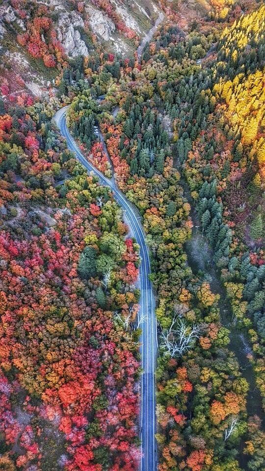 This Gorgeous Shot Was Taken By Drone Up Millcreek Canyon Utah Scott Taylor