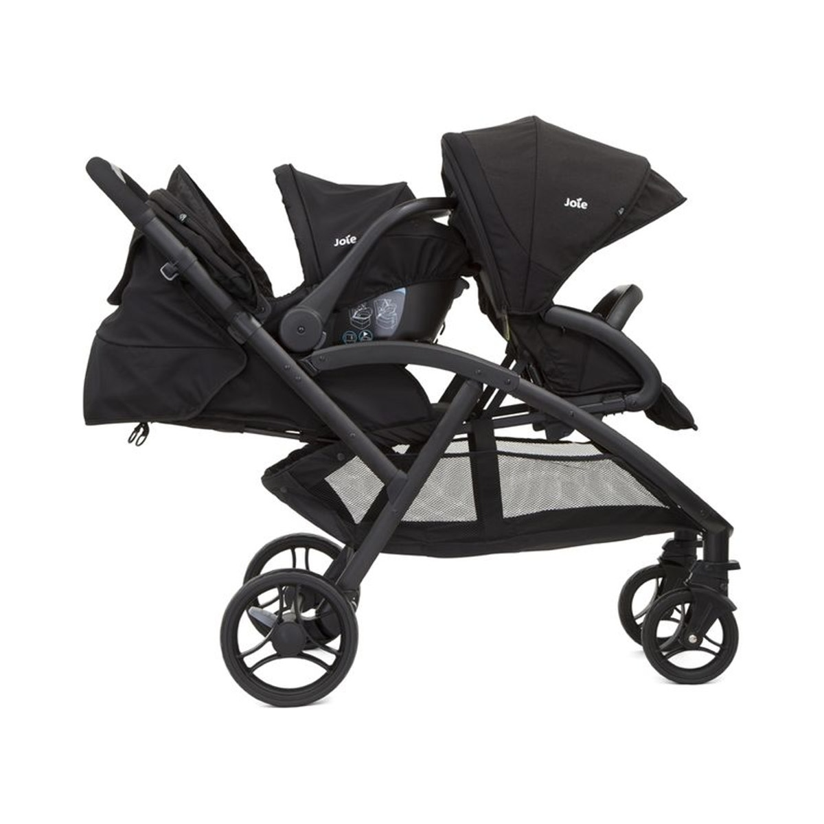 Poussette Double Evalite Duo - Coal - Black - Taille : Taille