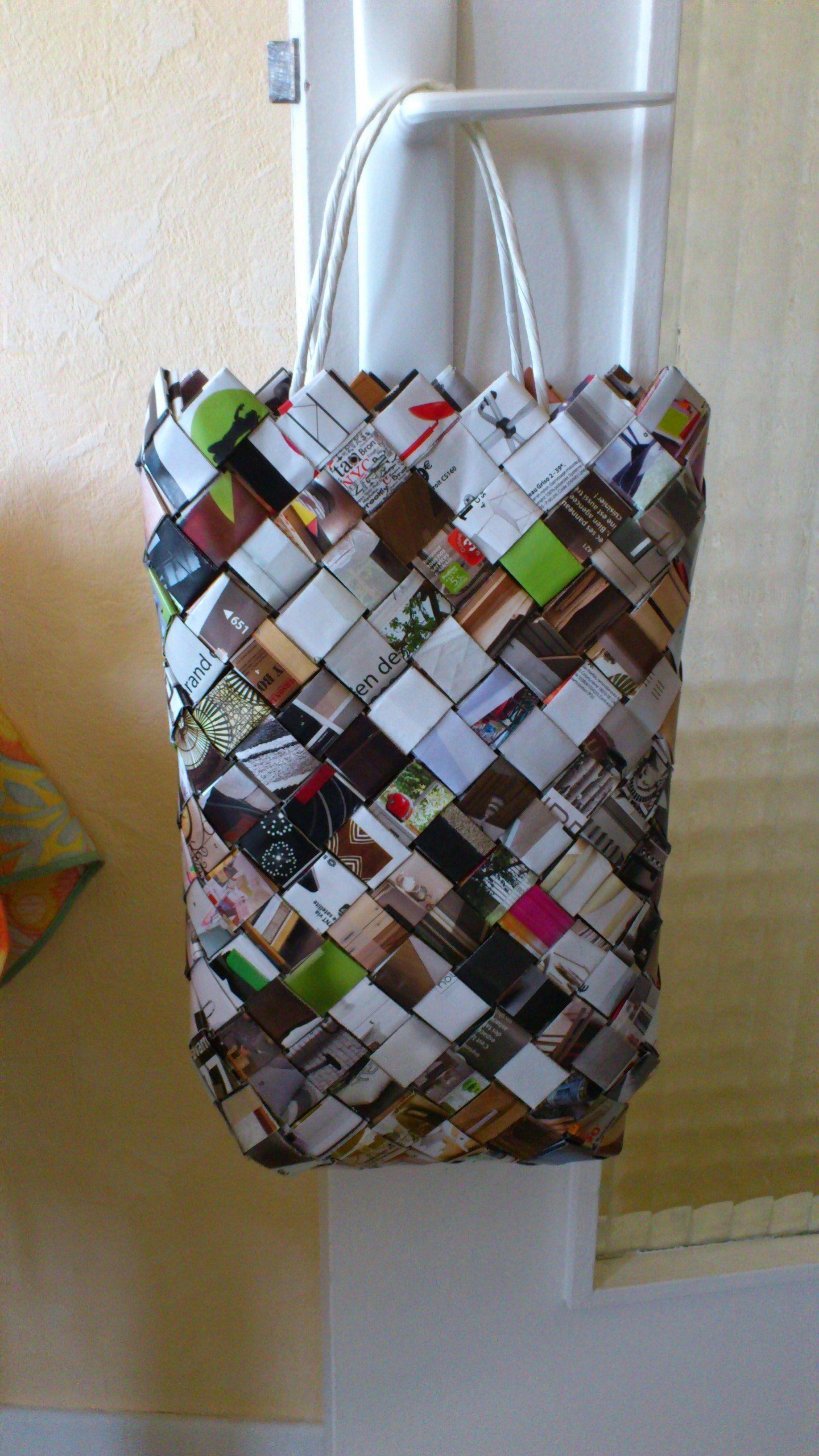 sac tress en papier dipl me pinterest tresser sac et sac papier. Black Bedroom Furniture Sets. Home Design Ideas