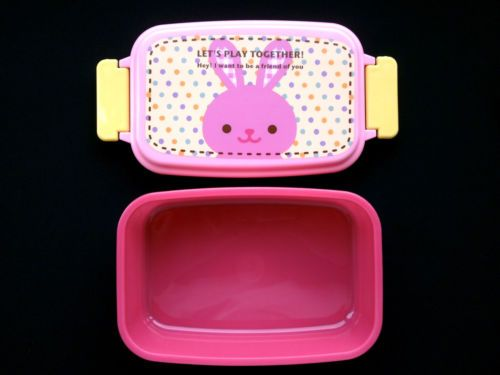 Products From Japan With Love: Rabbit 1 Tier Bento Box Pink