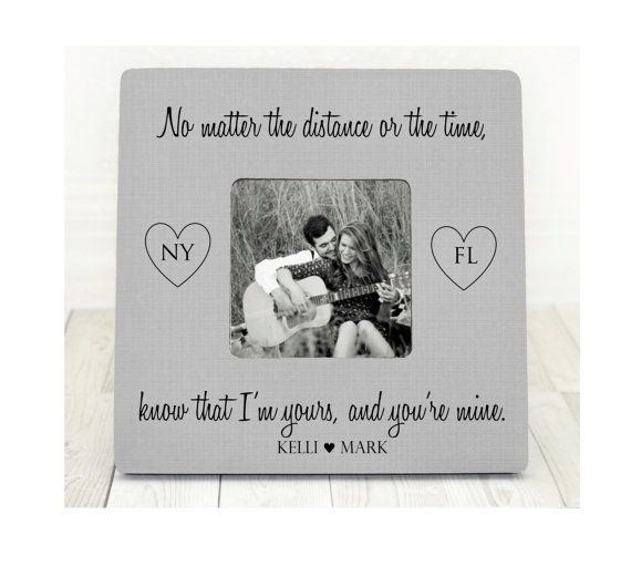 Long Distance Relationship Gift Frame Gift For Long Distance