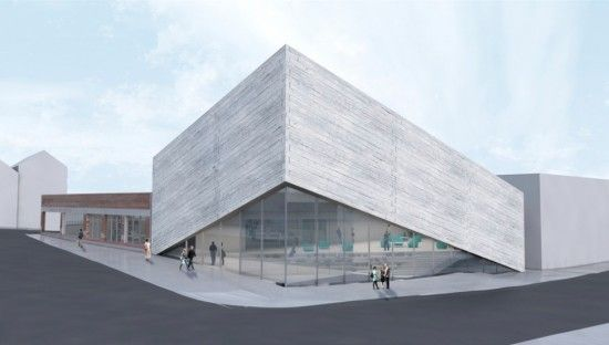 BIGu0027s New Plan Lifts Up To Reveal A Glassy Entrance. (Kimball Art Museum)