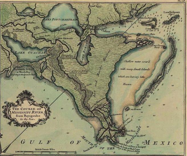 Louisiana Mississippi Hennepin 1687-27.5 x 23