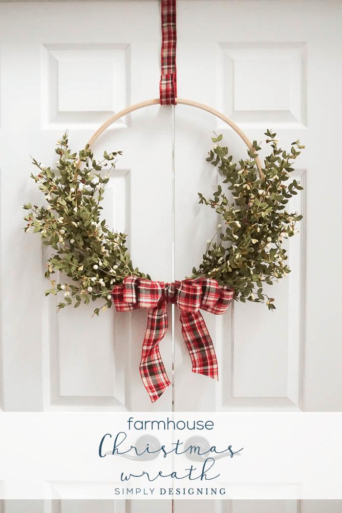 How To Make A Farmhouse Christmas Wreath Holidays Winter