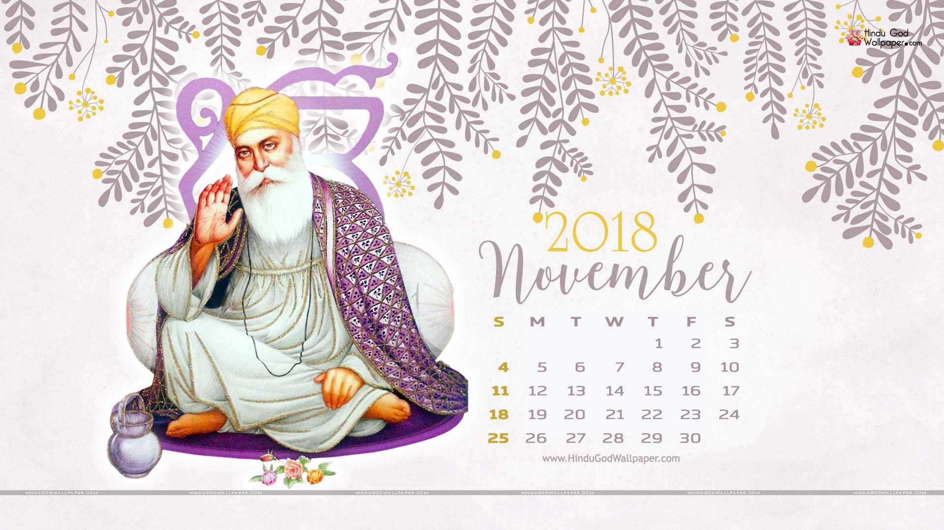 November 2018 Desktop Calendar Wallpaper Hd Background