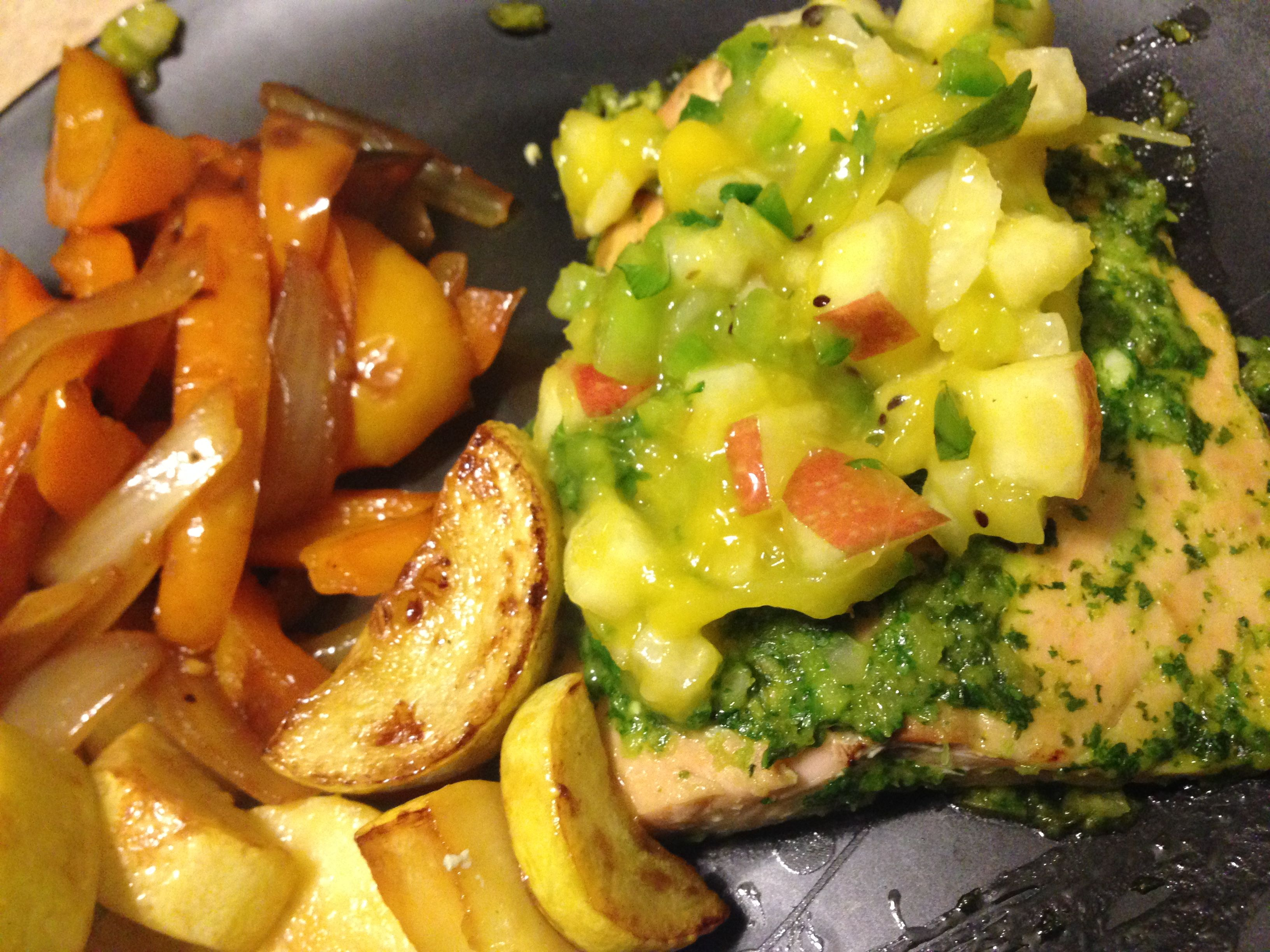 Cilantro lime salmon. Whole30