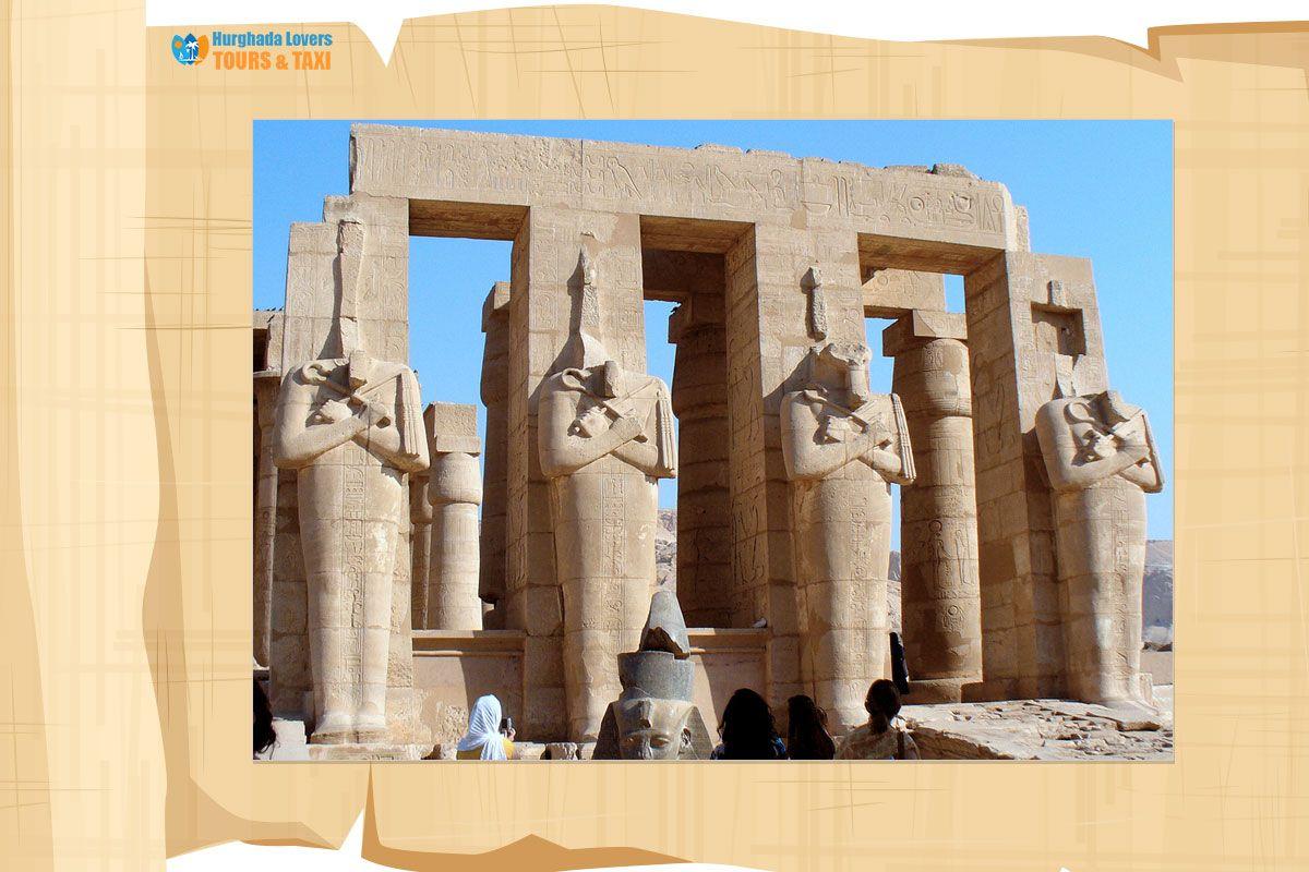 معبد الرامسيوم اهم المعابد الجنائزي للملك رمسيس الثاني في الأقصر مصر القديمة Egypt Travel Egypt Temple