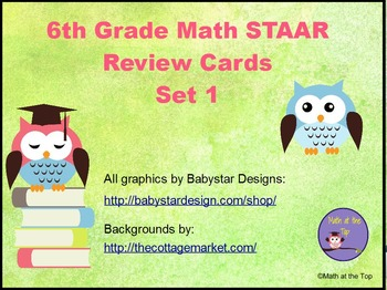 6th Grade Math STAAR Review Scoot Cards | Staar math ...