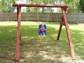 Exactly How To Build A Swing In About An Hour Swing Set Diy Woodworking Projects For Kids Woodworking For Kids
